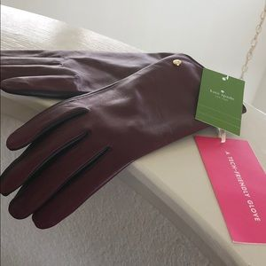 Kate Spade Leather Gloves NWT